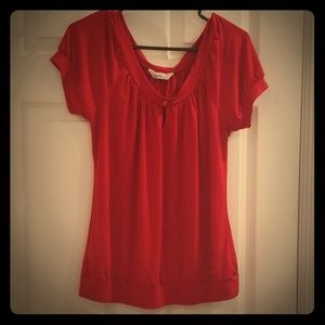 Size XL red stretchy blouse